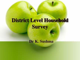 District Level Household Survey
