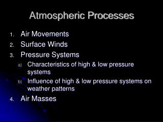 Atmospheric Processes