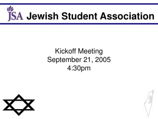 Kickoff Meeting  September 21, 2005 4:30pm