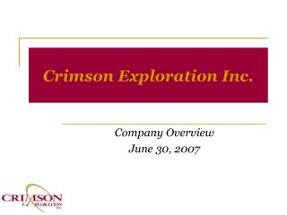 Crimson Exploration Inc.