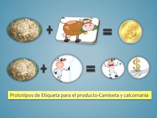 Prototipos de Etiqueta para el producto-Camiseta y calcomanía