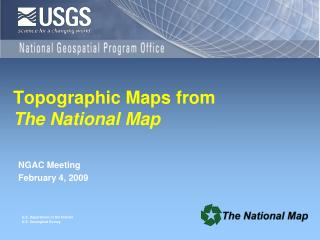 Topographic Maps from  The National Map