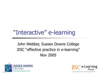 """Interactive"" e-learning"