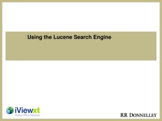 Using the Lucene Search Engine