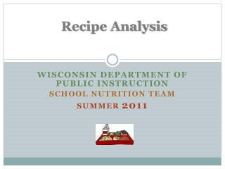 Recipe Analysis