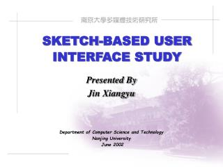 SKETCH-BASED USER INTERFACE STUDY