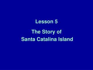 Lesson 5