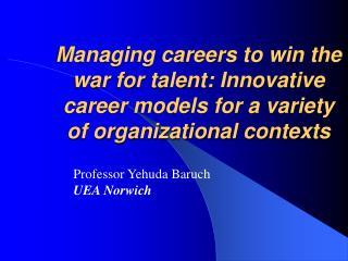 Professor Yehuda Baruch UEA Norwich