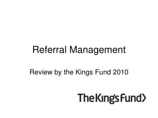Referral Management