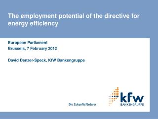 The employment potential of the directive for energy efficiency