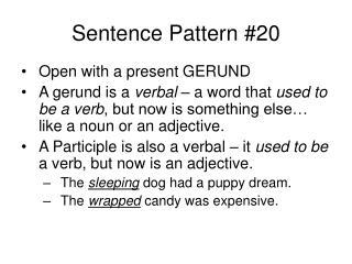 Sentence Pattern #20