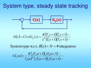 System type, steady state tracking