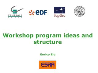 Workshop program ideas and structure Enrico Zio