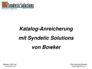 Katalog-Anreicherung  mit Syndetic Solutions von Bowker