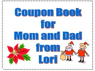 Coupon Book for Mom and Dad from Lori
