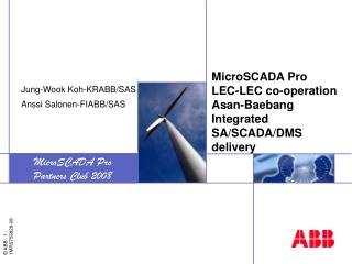 MicroSCADA Pro LEC-LEC co-operation Asan-Baebang Integrated SA/SCADA/DMS delivery