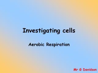 Investigating cells