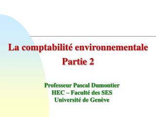 La comptabilit  environnementale Partie 2
