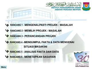 RANCANG 1  -  MENGENALPASTI PROJEK / MASALAH