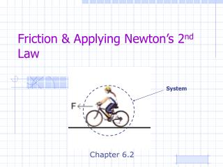 Friction & Applying Newton's 2 nd  Law
