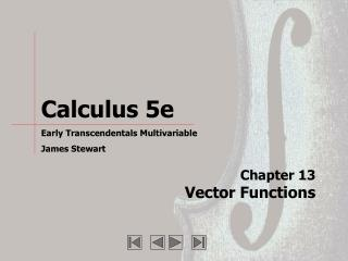 Chapter 13 Vector Functions
