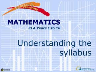 Understanding the syllabus