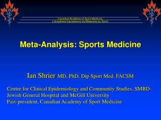 Meta-Analysis: Sports Medicine