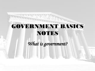 GOVERNMENT BASICS NOTES