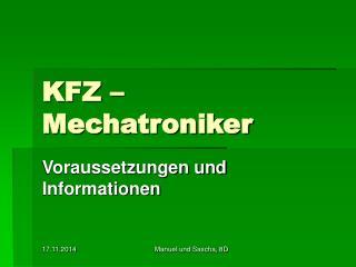 KFZ – Mechatroniker