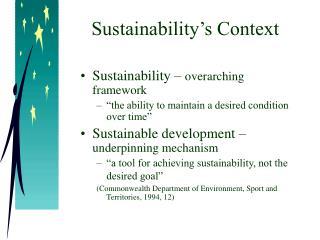 Sustainability's Context