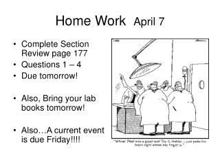Home Work   April 7