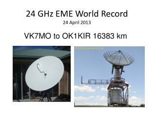 24 GHz EME World Record 24 April 2013