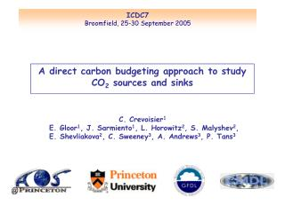 A direct carbon budgeting approach to study CO 2  sources and sinks