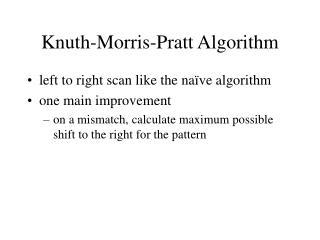Knuth-Morris-Pratt Algorithm