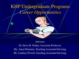 KHP Undergraduate Programs Career Opportunities