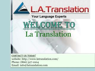 Professional Translation Services from La Translation