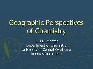 Geographic Perspectives of Chemistry
