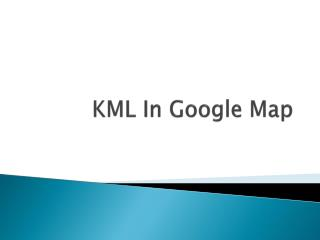 KML In Google Map