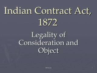 Indian Contract Act, 1872