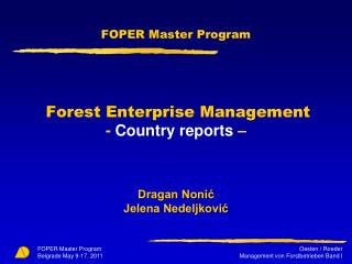 Forestry enterprises as an integrating part of economy as a whole