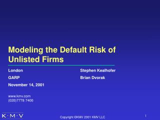 Modeling the Default Risk of Unlisted Firms