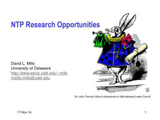 NTP Research Opportunities