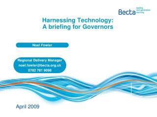 Harnessing Technology: A briefing for Governors
