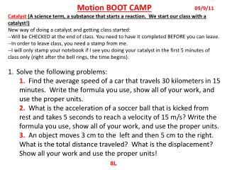 Motion BOOT CAMP