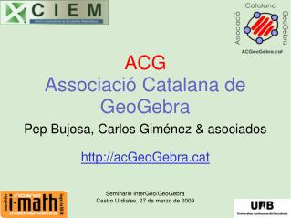 ACG Associaci  Catalana de GeoGebra