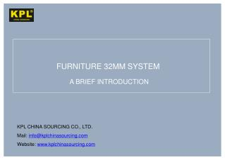 FURNITURE 32MM SYSTEM