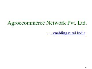 Agroecommerce Network Pvt. Ltd.