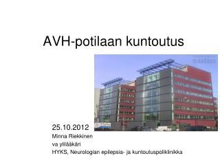AVH-potilaan kuntoutus
