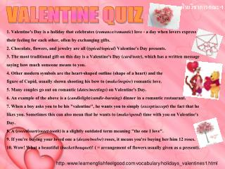 http :// www . learnenglishfeelgood . com / vocabulary / holidays_valentines1 . html