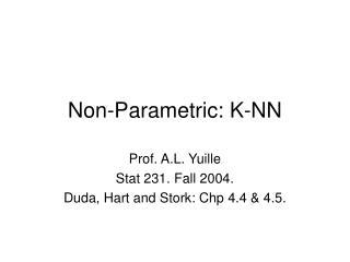 Non-Parametric: K-NN
